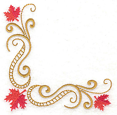 Embroidery Design: Victorian fall leaf design 28 3.84w X 3.83h