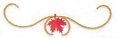 Embroidery Design: Victorian fall leaf design 29 4.92w X 1.43h