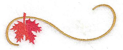 Embroidery Design: Victorian fall leaf design 30 3.52w X 1.63h