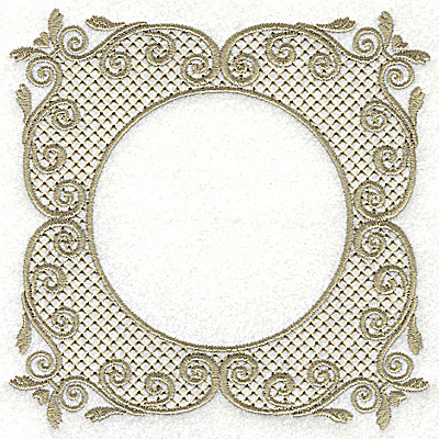 Embroidery Design: Victorian Lace like design A large 4.96w X 4.96h