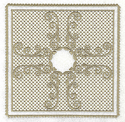 Embroidery Design: Victorial Lace like design B 4.94w X 4.94h