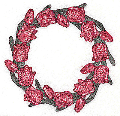 Embroidery Design: Circle of Tulips small 3.82w X 3.79h