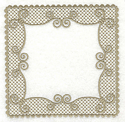 Embroidery Design: Victorian Lace like design D large 4.96w X 4.96h