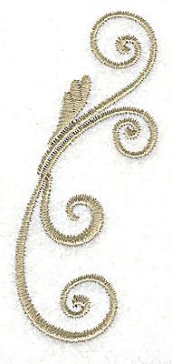 Embroidery Design: Victorian swirl design small 1.38w X 3.03h