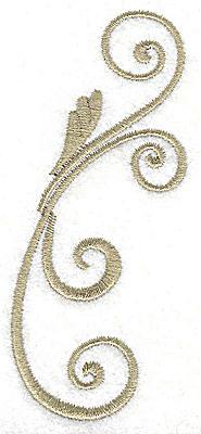 Embroidery Design: Victorian swirl design large 1.70w X 3.88h
