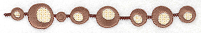 Embroidery Design: Floral beads large 6.97w X 0.92h