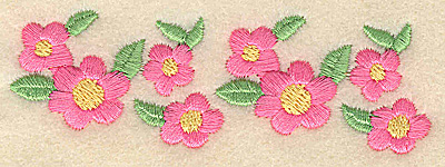 Embroidery Design: Flowers 3.89w X 1.29h