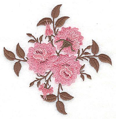 Embroidery Design: Victorian Rose trio 4.24w X 4.30h