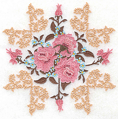 Embroidery Design: Victorian Roses B 4.98w X 4.98h