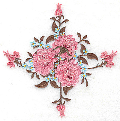 Embroidery Design: Victorian Roses buds and blossoms 4.70w X 4.82h