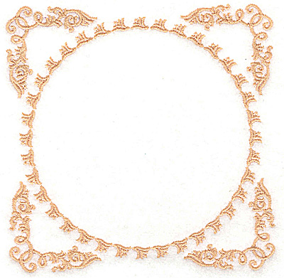 Embroidery Design: Frame and circle 4.98w X 4.98h
