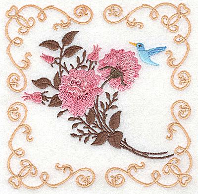 Embroidery Design: Victorian Roses E 4.98w X 4.98h
