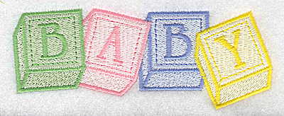 Embroidery Design: Baby blocks large 4.92w X 1.90h