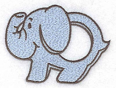Embroidery Design: Elephant teething ring boy large 3.43w X 2.57h