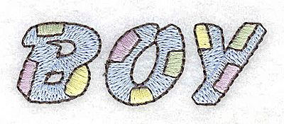 Embroidery Design: Boy 2.45w X 0.81h