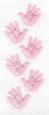Embroidery Design: Handprint trio girl 1.10w X 3.08h
