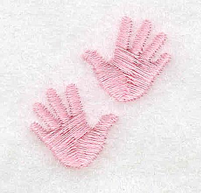 Embroidery Design: Handprint girl 1.10w X 1.14h
