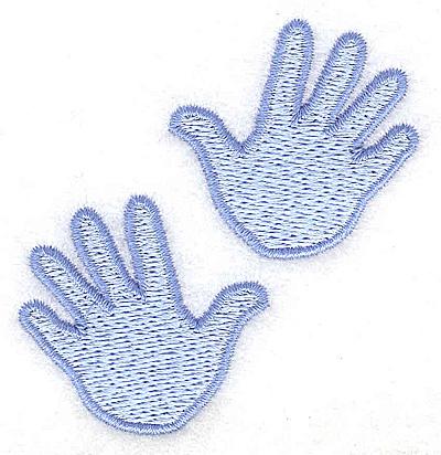 Embroidery Design: Handprint large boy 2.57w X 2.67h