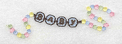 Embroidery Design: Beaded baby boy bracelet small 2.94w X 0.97h