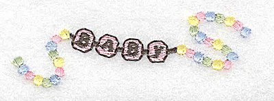Embroidery Design: Beaded baby girl bracelet small 2.94w X 0.97h