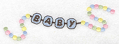 Embroidery Design: Beaded baby boy bracelet large 4.92w X 1.64h