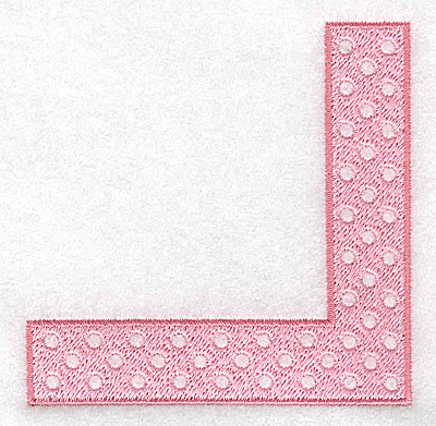 Embroidery Design: Corner with circles girl 3.57w X 3.56h
