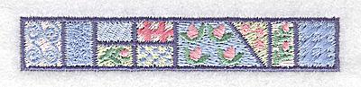 Embroidery Design: Decorative baby border 3.86w X 0.67h