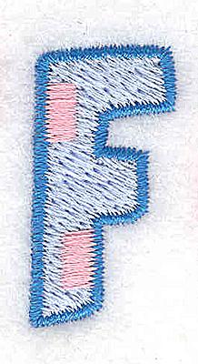 Embroidery Design: F small 0.64w X 1.27h