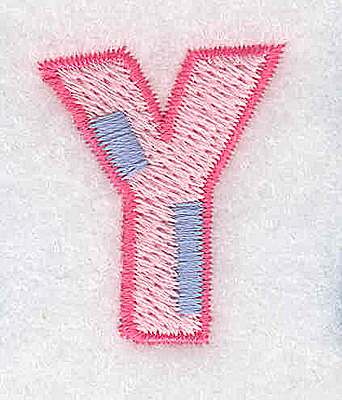 Embroidery Design: Y small 1.03w X 1.26h