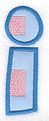 Embroidery Design: I applique large 1.31w X 3.70h