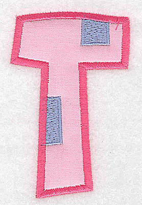 Embroidery Design: T applique large 2.35w X 3.65h