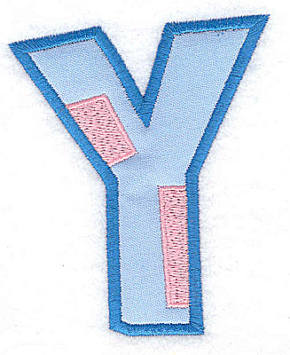 Embroidery Design: Y applique large 3.02w X 3.65h