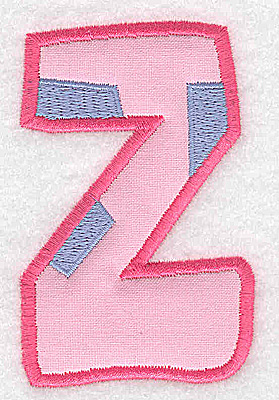 Embroidery Design: Z applique large 2.36w X 3.65h