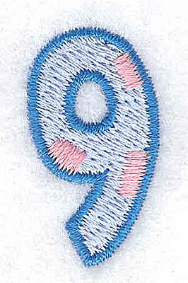 Embroidery Design: 9 small 0.72w X 1.28h