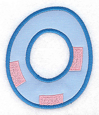 Embroidery Design: 0 applique large 3.09w X 3.69h