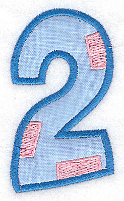 Embroidery Design: 2 applique large 2.10w X 3.69h