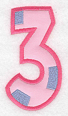 Embroidery Design: 3 applique large 1.99w X 3.66h