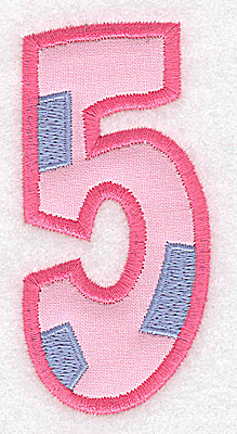 Embroidery Design: 5 applique large 1.77w X 3.67h