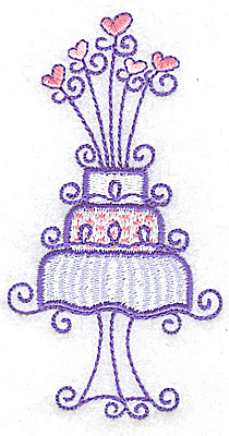 Embroidery Design: Wedding Cake small 2.04w X 3.87h