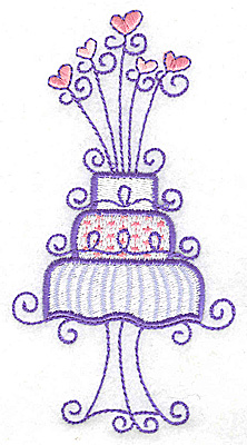 Embroidery Design: Wedding Cake large 2.61w X 4.95h