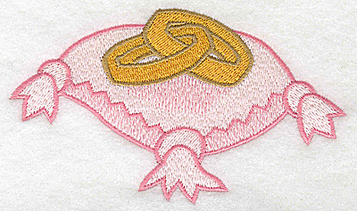 Embroidery Design: Ring Bearer pillow and wedding bands large 4.89w X 2.87h