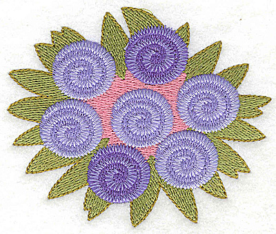 Embroidery Design: Wedding bouquet large 3.73w X 3.11h