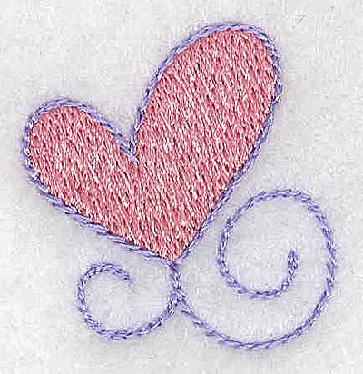 Embroidery Design: Single heart small 1.27w X 1.31h