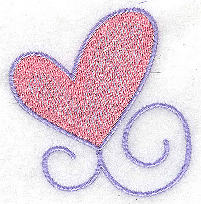 Embroidery Design: Single heart large 2.57w X 2.68h