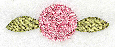 Embroidery Design: Rosebud pink small 2.61w X 0.96h