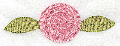 Embroidery Design: Rosebud pink large 3.87w X 1.42h