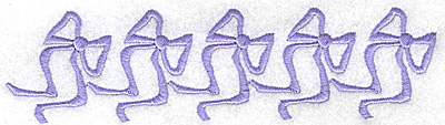 Embroidery Design: Ribbons in a row 6.67w X 1.74h