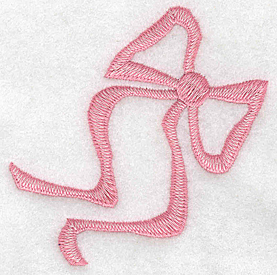 Embroidery Design: Ribbon large 3.30w X 3.39h