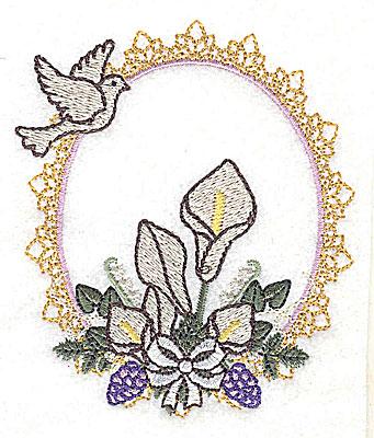 Embroidery Design: Forever Wedding design small 3.25w X 3.86h