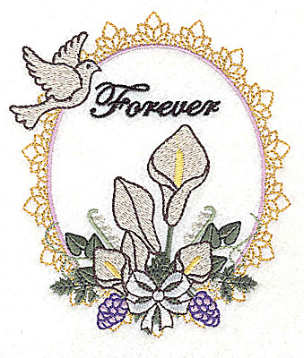Embroidery Design: Forever Wedding design large with text  4.16w X 4.94h